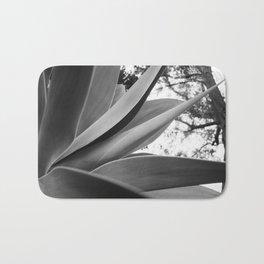 Black & White Succulent Bath Mat
