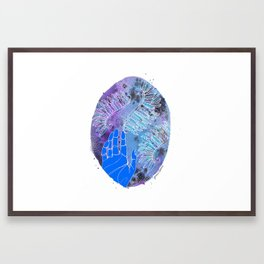 The whole world stands on kindness Framed Art Print