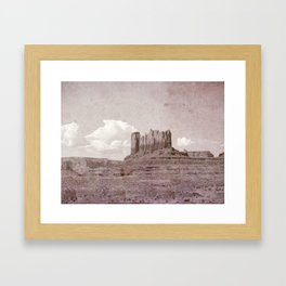Old West Monument Valley Framed Art Print