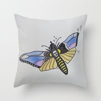 silence of the lambs Throw Pillows featuring Death-Head ... Silence of the Lambs by Paxton Keating