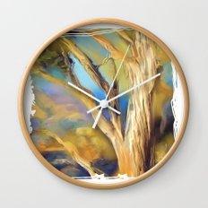 wacom textural study / tree Wall Clock