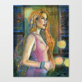 In the Blue Night Canvas Print