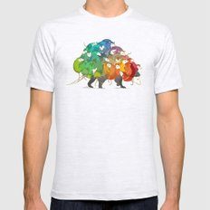 Opossum Rainbow Babies Ash Grey 2X-LARGE Mens Fitted Tee