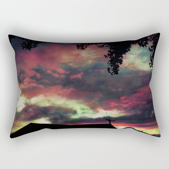 Thick as the Day's End Rectangular Pillow