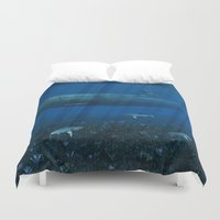 submarine Duvet Covers featuring U99 Submarine by Simone Gatterwe