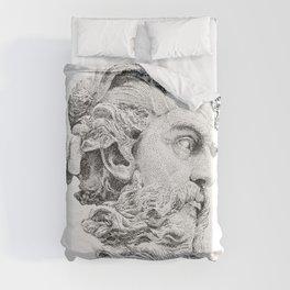 Neptune God of the Sea Duvet Cover