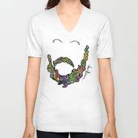 beard V-neck T-shirts featuring BEARD by Dani Herrera