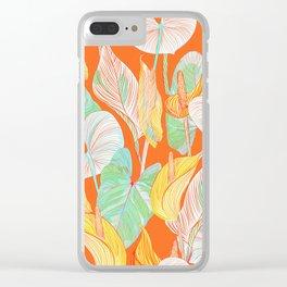 Lush Lily - orange zest Clear iPhone Case