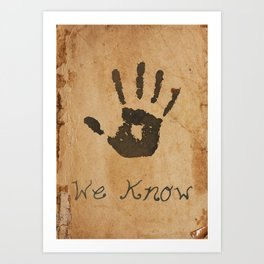 Dark Brotherhood note Art Print