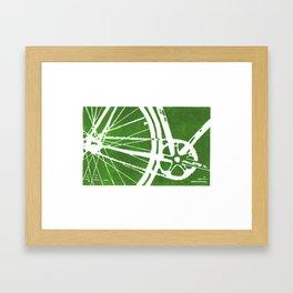Green Bike Framed Art Print