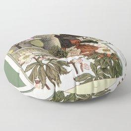 The pretty woman gardener Floor Pillow