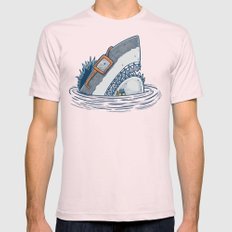 The Nerd Shark Light Pink Mens Fitted Tee X-LARGE