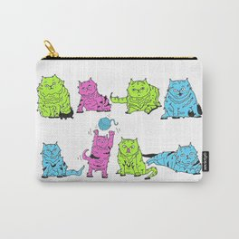 Fluro Cats Carry-All Pouch
