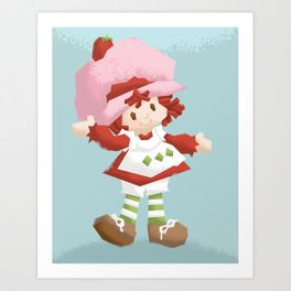 Strawberry Shortcake Art Print