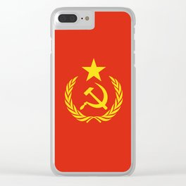 Russian Communist Flag Hammer & Sickle Clear iPhone Case