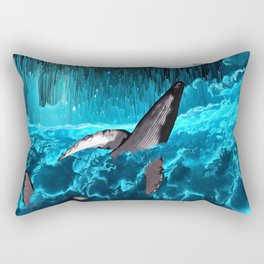 Swimming In The Clouds Rectangular Pillow