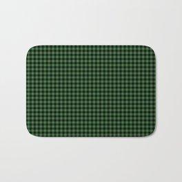 Mini Black and Dark Green Cowboy Buffalo Check Bath Mat