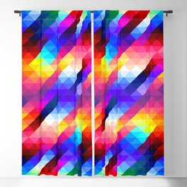 Abstract Colorful Decorative Squares Pattern Blackout Curtain