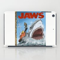 jaws iPad Cases featuring Jaws by Tom McWeeney