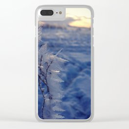 Frosty Morning Clear iPhone Case