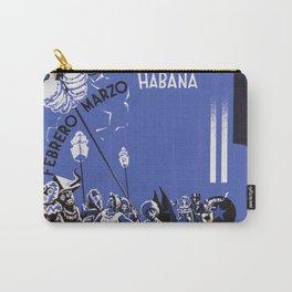 Vintage Havana Cuba Carnival 1946 Carry-All Pouch