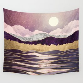 Lunar Waves Wall Tapestry