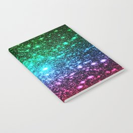 glitter Cool Tone Ombre (green blue purple pink) Notebook