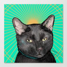 Radiant Sun Cat Canvas Print