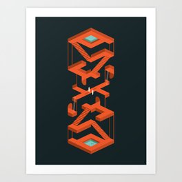 Monument Maze Art Print