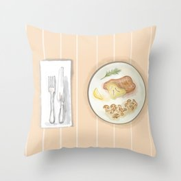 At the Dining Table Throw Pillow
