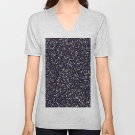 Modern abstract purple lavender lime green confetti Unisex V-Neck