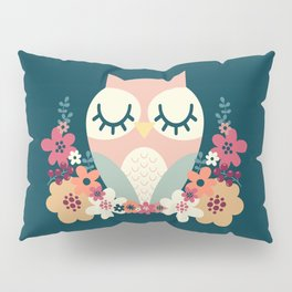 Floral Owl / Cute Animal Pillow Sham