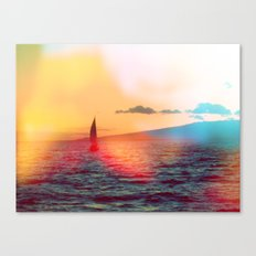 sailboat. Canvas Print