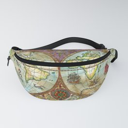 Map of the World Fanny Pack