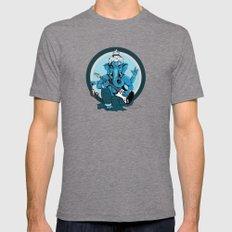 Ganesha rocks ! (v1) Tri-Grey Mens Fitted Tee X-LARGE