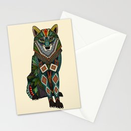 wolf ivory Stationery Cards