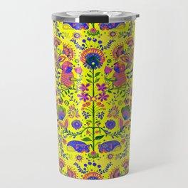 The Pug of Folk Watercolor Travel Mug