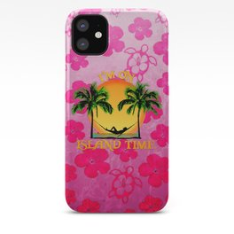 Pink Flowers Island Time iPhone Case