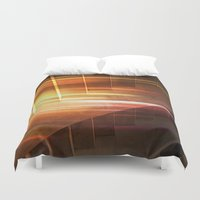 flash Duvet Covers featuring Flash by Photaugraffiti