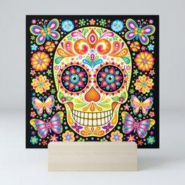 Día de Muertos Sugar Skull (Fiesta) Mini Art Print