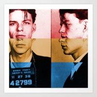 frank sinatra Art Prints featuring Classic Frank Sinatra  by Brandon Minieri