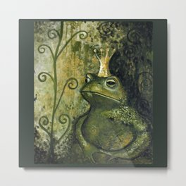 The FROG KING Metal Print