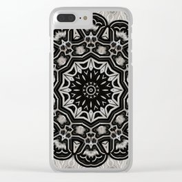 Black + White = Harmony Clear iPhone Case
