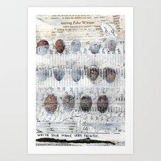 Bearing False Witness Art Print