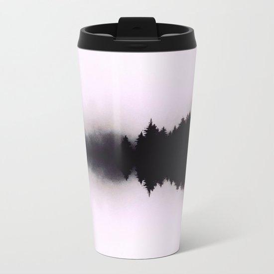 Ink forest reflections Metal Travel Mug