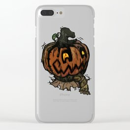Patchwork Jack o' lantern Clear iPhone Case