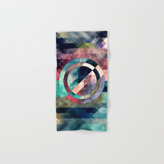Colorful Grunge Geometric Abstract Hand & Bath Towel