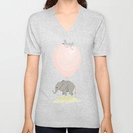 Little flying elephant Unisex V-Neck