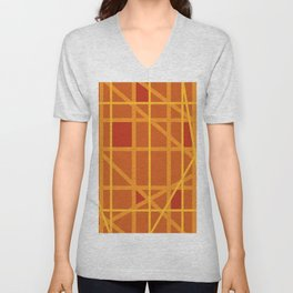 Abstract DW Unisex V-Neck