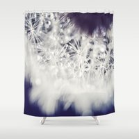 dandelion Shower Curtains featuring Dandelion  by Juste Pixx Photography